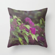 purple flower. Throw Pillow
