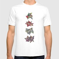 Spikey Friends Mens Fitted Tee White SMALL