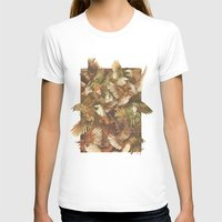 abstract T-shirts featuring Red-Throated, Black-capped, Spotted, Barred by Teagan White
