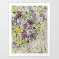 Soft Vintage Floral  Art Print