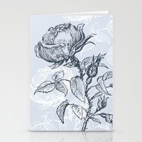 Graphic drawing roses Stationery Cards
