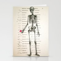 Skeleton In Love Stationery Cards