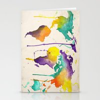 World Splash Stationery Cards
