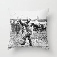 Mud And Techno Throw Pillow