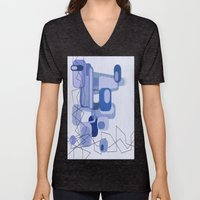 Feeling Blue. Unisex V-Neck