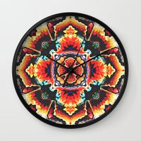 Geometric Motif Wall Clock