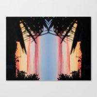 REVERSED SUMMER SHADOWS Canvas Print