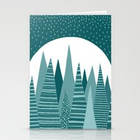 Moonlight Forest Stationery Cards