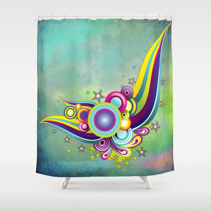 Abstract fantasy shower curtain by just kidding society6 for Fantasy shower curtains
