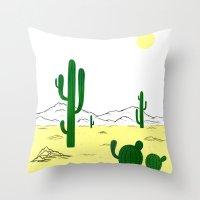 Man & Nature - The Desert Throw Pillow