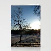Snowy Sunset Stationery Cards
