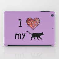 I Heart My Cat iPad Case