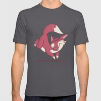 The Quick Brown Fox Jump… Mens Fitted Tee Asphalt SMALL