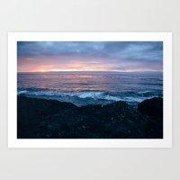 Violet Coast Art Print