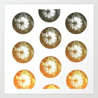 Rusty Circles Art Print