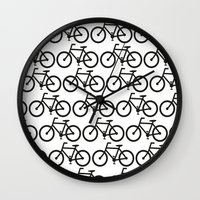 Bicycle Stamp Pattern - … Wall Clock
