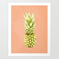 Art Print featuring Pineapple by Grace