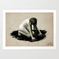 Dark Water No.1 Art Print