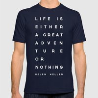 Adventure or Nothing Mens Fitted Tee Navy SMALL