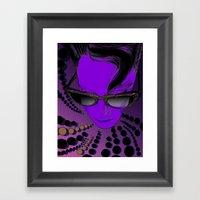 Wanda Mauve Framed Art Print