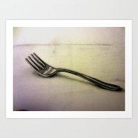 Fork Art Print