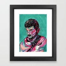 Few colors Left Framed Art Print