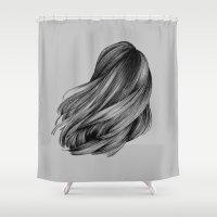 Hair Shower Curtain