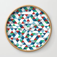 Triangles #3 Wall Clock