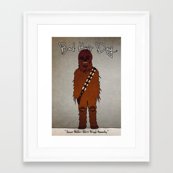 bad hair day no:3 / Chewbacca  Framed Art Print