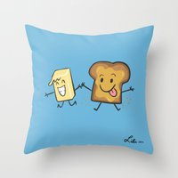 Kaya Toast Throw Pillow