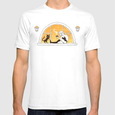 Evening Tea Mens Fitted Tee White SMALL