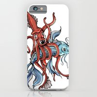 iPhone & iPod Case featuring Squid and Fish by Bare Wolfe
