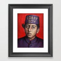 Lobby Boy / Grand Budape… Framed Art Print