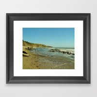 Bowling Ball Beach IV Framed Art Print