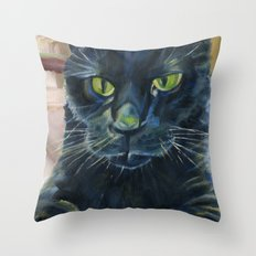 Totoro the cat Throw Pillow
