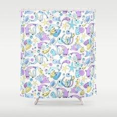 Pastel Fish Shower Curtain