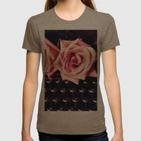 Love Letter Womens Fitted Tee Tri-Coffee SMALL
