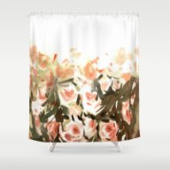 Nude Roses Shower Curtain