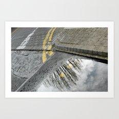 Road tree Art Print