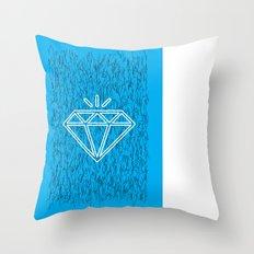 diamond cyan Throw Pillow