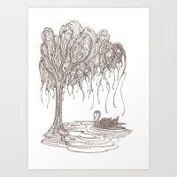 Dreaming Tree Art Print