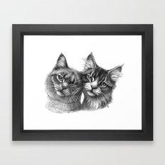 Cats in Love G134 Framed Art Print