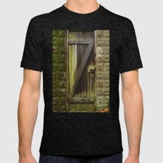 Z. The Old Door. Mens Fitted Tee Tri-Black SMALL