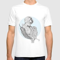 Twit-twoo Mens Fitted Tee SMALL White