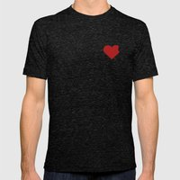 Poor Little Heart! Mens Fitted Tee Tri-Black SMALL