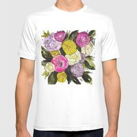 Linda's Bouquet Mens Fitted Tee White SMALL