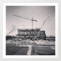 Winter Construction Art Print