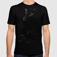 Up, Up and Away Mens Fitted Tee Black SMALL