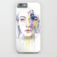 iPhone Cases featuring miss bow tie by agnes-cecile