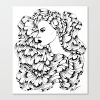 Cosmos (Line Art) Canvas Print